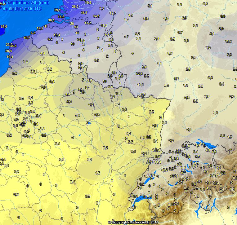 Zuidwesten Eindelijk Met Regen Bediend België En Frankrijk Droog