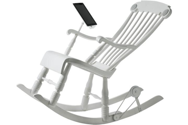 Energie opwekken in je luie stoel schommelen laadt accu for Luie stoel